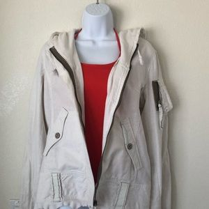BB Dakota Distressed Off White Jacket -  M